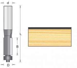 Frez kopiujący z łożyskiem oporowym 16x50mm chwyt 6mm