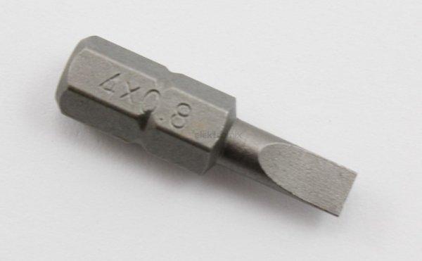 """Jonnesway Końcówka bit płaska 4mm L-25 1/4"""" D125F4506A"""