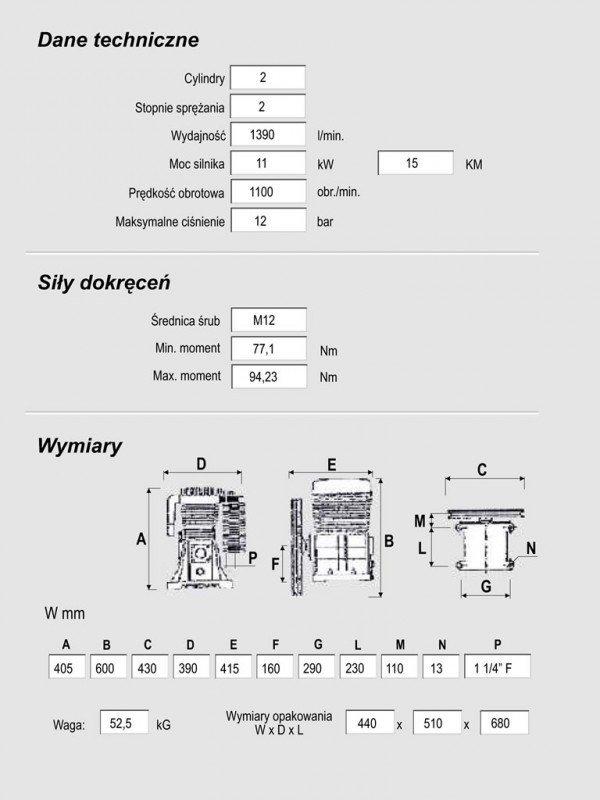 Pompa sprężarkowa NS - 59S Kupczyk