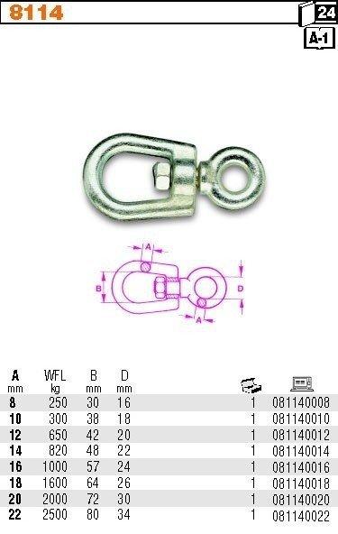 Robur 8114/12 Krętlik ucho-ucho 12mm WILL 650kg