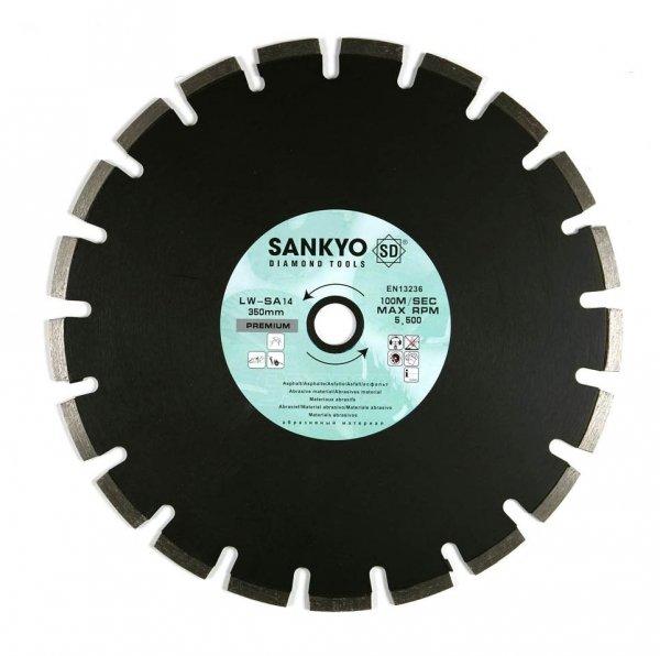 Tarcza diamentowa 355 mm do cięcia asfaltu silki chudego betonu LWSA-14 segment 355 x 3,2 x 10,0 x 25,4mm
