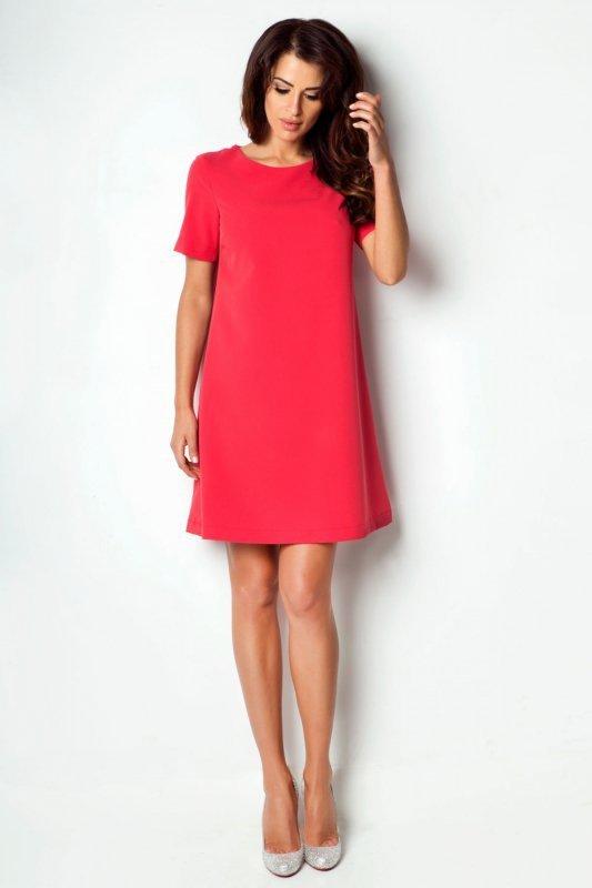 Trapezowa Sukienka Claudia - malinowy