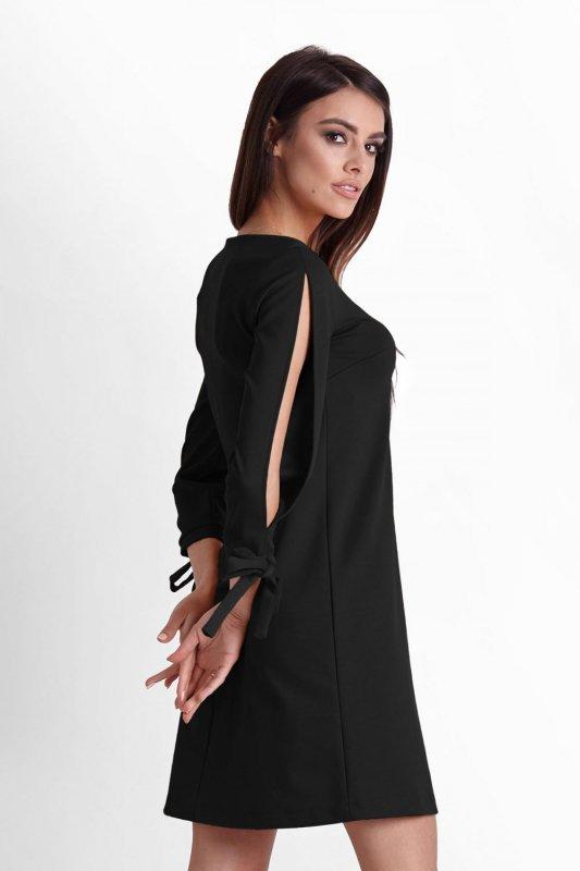 Trapezowa Sukienka Diva - czarny