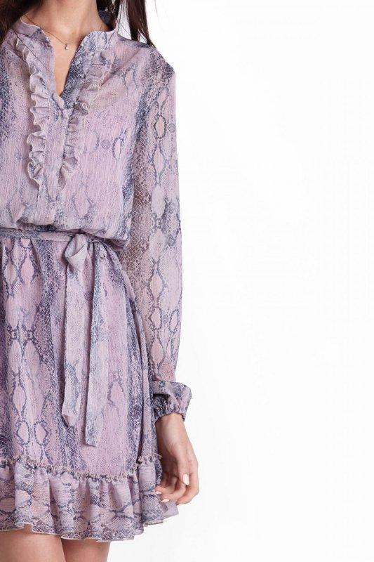 Sukienka Leila w Wężowy Wzór
