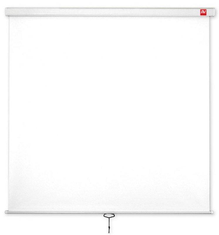 AVTek Ekran ścienny ręczny Wall Standard 175, 1:1, 175x175cm, powierzchnia biała, matowa