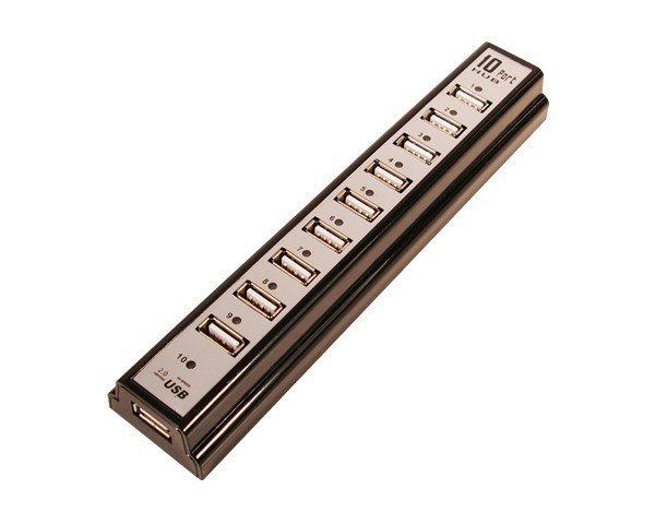 LogiLink HUB USB 2.0 10-portów z zasilaczem