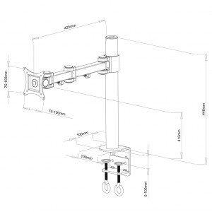 ART Uchwyt do monitora LCD 1monitor 13-27'' L01