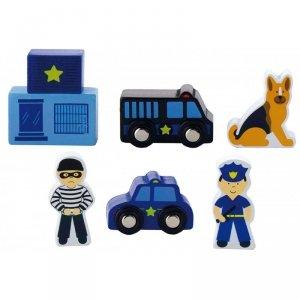 Viga Zestaw figurek - Policja - Akcesoria do kolejki
