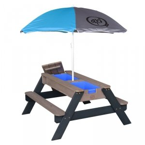 AXI Stół Piknikowy Nick z Pojemnikami na Piasek/Wodę z Parasolem