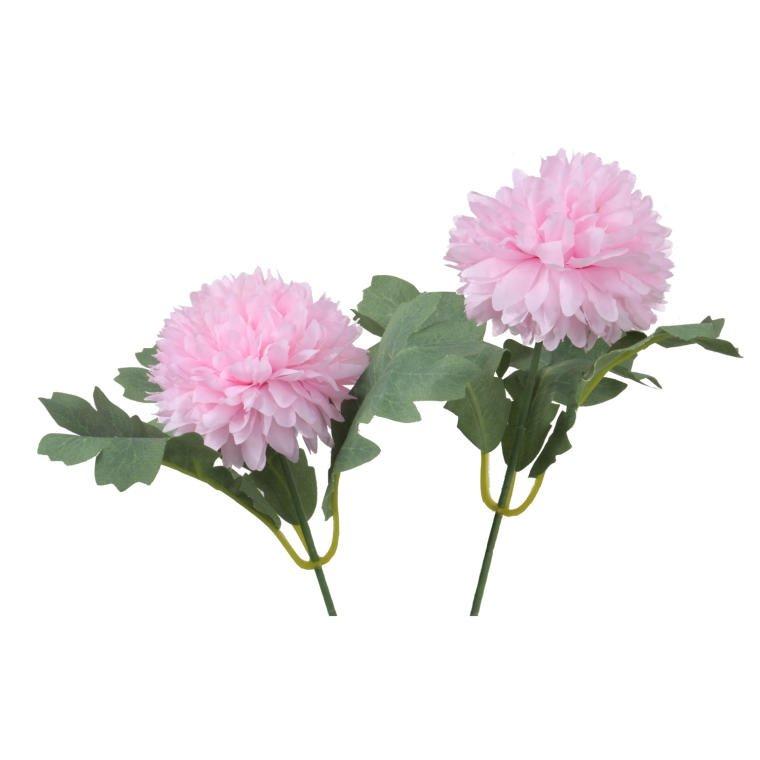 Kwiaty sztuczne podwójny czosnek różowy ozdoba dekoracja