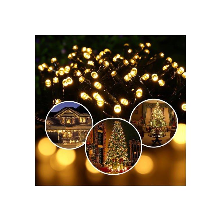 LAMPKI 140 LED ZIMNE BIAŁE LAMPKI CHOINKOWE ZEWNĘTRZNE I WEWNĘTRZNE