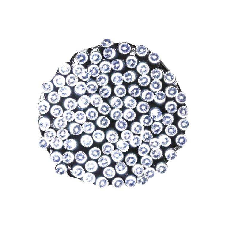 LAMPKI 120 LED SOLARY ZIMNY BIAŁY