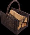 Kosz na drewno do kominka - (prostokąt/wenge) - sklep z wiklina - zdjęcie