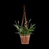 Kwietnik wiszący (ażur/naturalny) - sklep z wiklina - zdjęcie