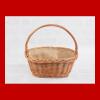 Kosz prezentowy - obszyty płótnem (35cm) - sklep z wiklina - zdjęcie 2