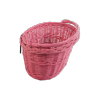 Kosz rowerowy przedni (haki, różowy) - sklep z wiklina - zdjęcie