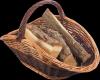 Kosz na drewno do kominka (maczuga/70cm) - sklep z wiklina - zdjęcie