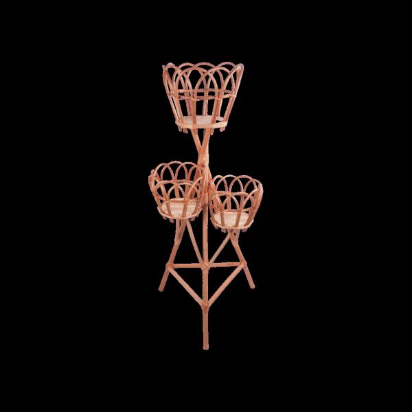Stojak na kwiaty - kwietnik (Ażur/3D) - sklep z wiklina - zdjęcie