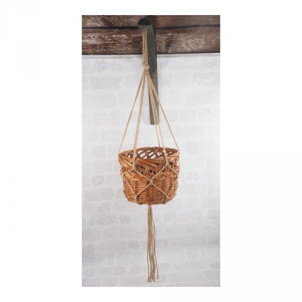 Kwietnik wiszący (Ażur/24cm) - sklep z wiklina - zdjęcie 1