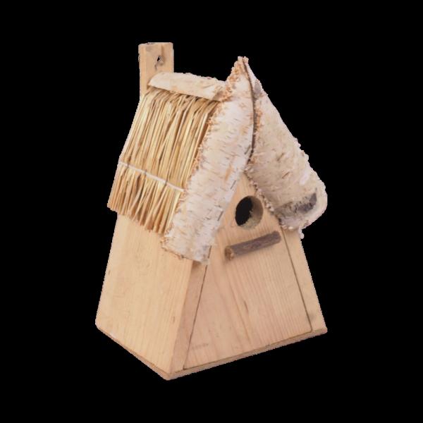 Budka lęgowa dla ptaków (drewno/słoma) - sklep z wiklina - zdjęcie 1