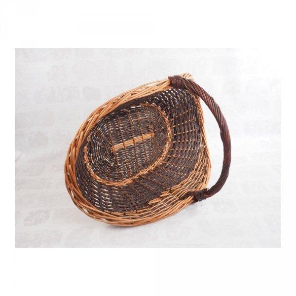 Kosz na drewno do kominka (maczuga/70cm) - sklep z wiklina - zdjęcie 2