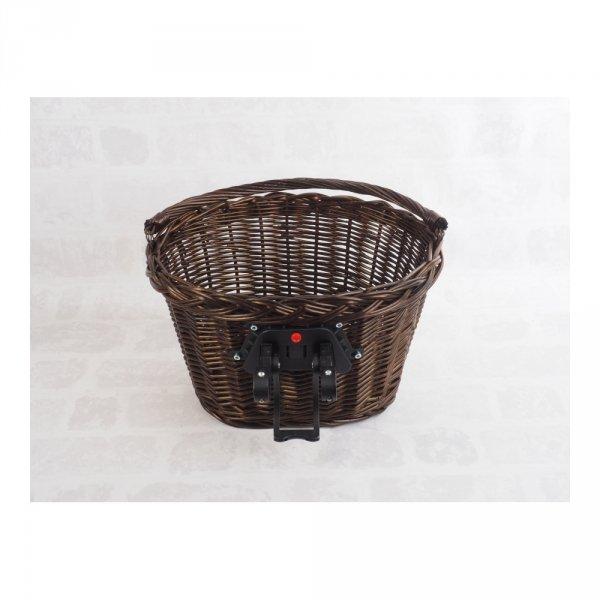 Kosz rowerowy przedni (click, wenge) - sklep z wiklina - zdjęcie 2