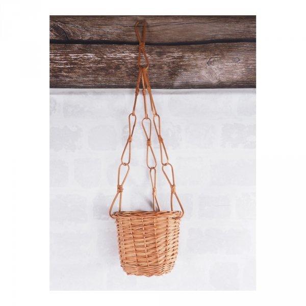 Kwietnik wiszący (pełny/naturalny)- sklep z wiklina - zdjęcie 2