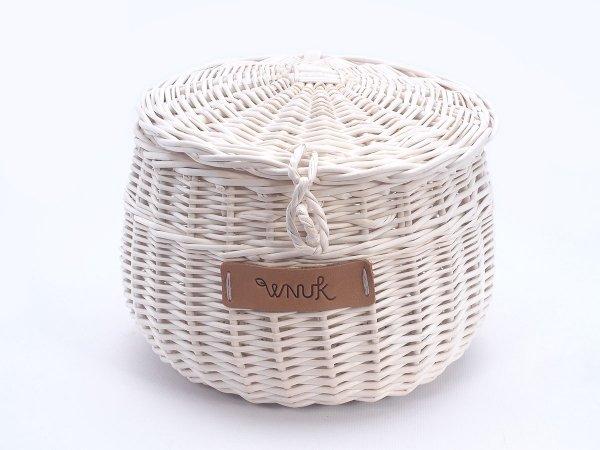 Szkatułka Biała(Baryłka/20cm) - Sklep z wiklina - zdjęcie