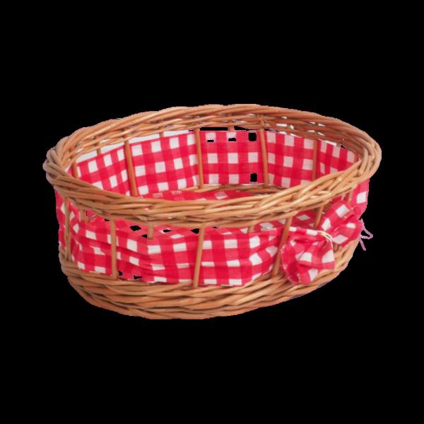 Tacka ażurowa z dekoracją (Owalna/23cm) - sklep z wiklina - zdjęcie