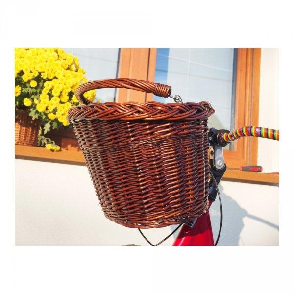 Kosz rowerowy przedni (click, wenge) - sklep z wiklina - zdjęcie 4