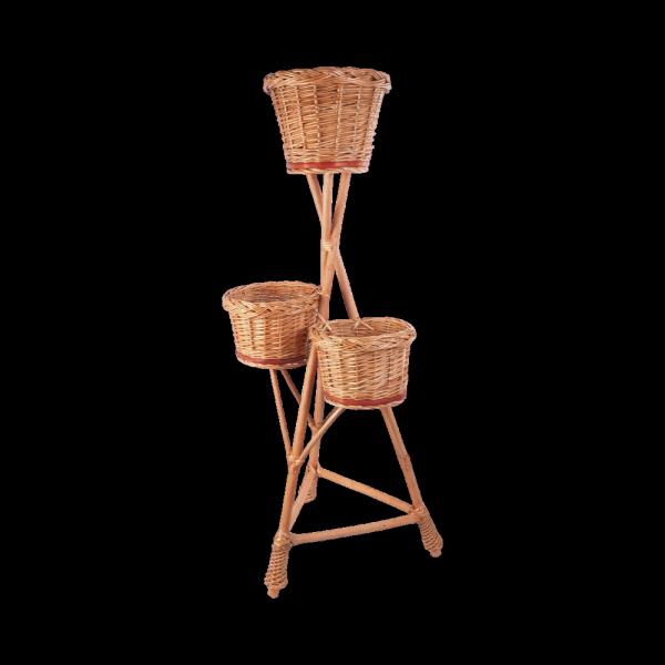Stojak na kwiaty - kwietnik (Pełny/3D) - sklep z wiklina - zdjęcie