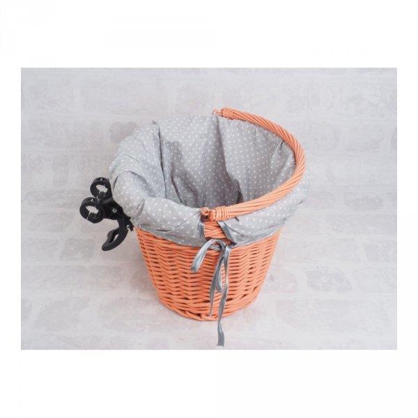 Kosz rowerowy przedni  z wkładem (Clik/Pomarańczowy) - sklep z wiklina - zdjęcie 5