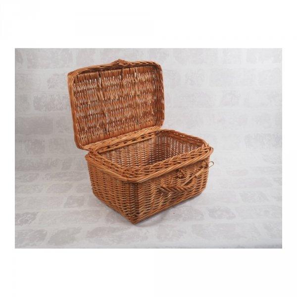 Kosz - kufer - piknikowy - kwadrat - średni - zdjęcie 1
