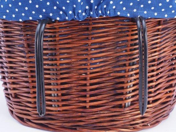 Kosz rowerowy Haki (Wkład/Wenge) - Sklep z wiklina - zdjęcie 3