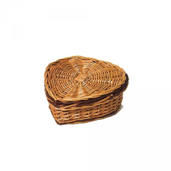 Szkatułka  (Serce/30cm) - sklep z wiklina - zdjęcie