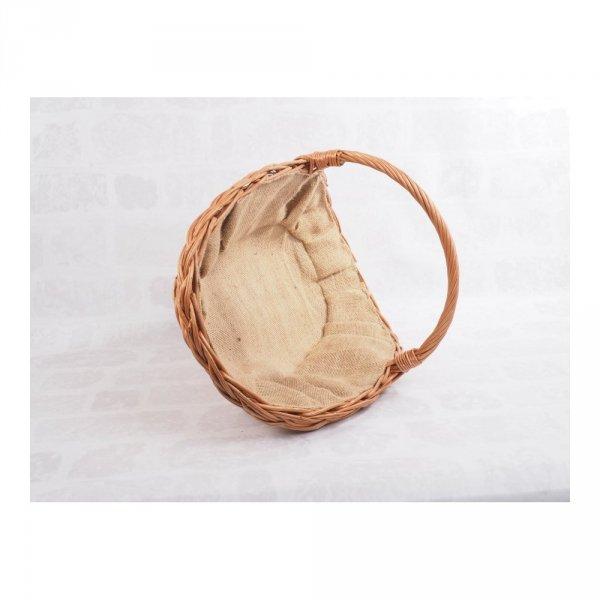 Kosz na drewno z wyścieleniem z juty (Talerz) - sklep z wiklina - zdjęcie 3