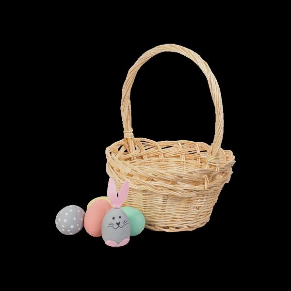 Koszyczek Wielkanocny (beżowy/25cm) - sklep z wiklina - zdjęcie