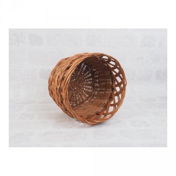 osłonka na donicę (ażur/naturalna/38cm) sklep z wiklina - zdjęcie 2