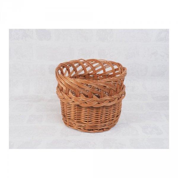 osłonka na donicę (ażur/naturalna/38cm) sklep z wiklina - zdjęcie 1