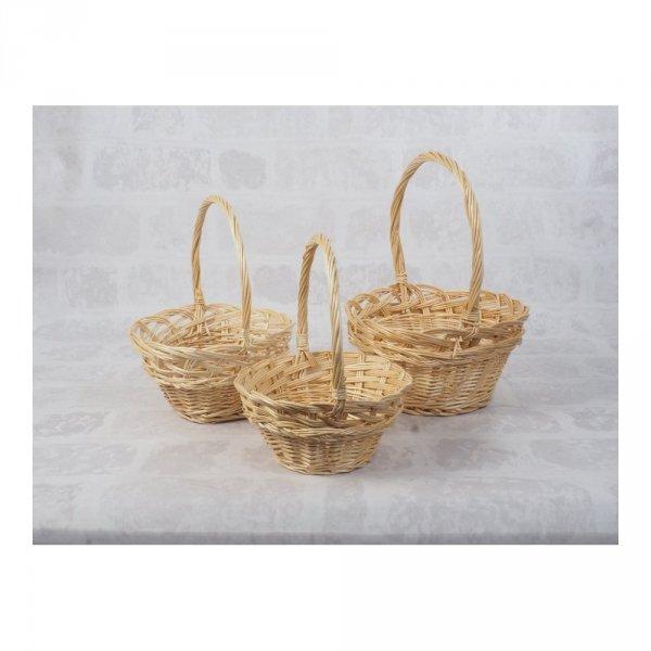 Koszyczek Wielkanocny (beżowy/16cm) - sklep z wiklina - zdjęcie 3