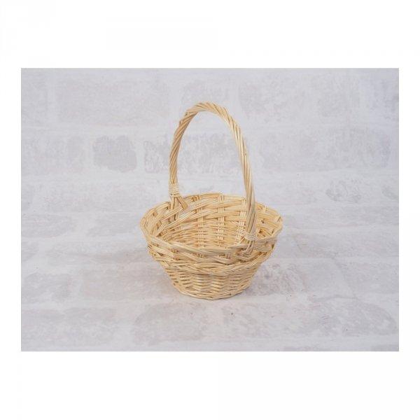 Koszyczek Wielkanocny (beżowy/16cm) - sklep z wiklina - zdjęcie 1