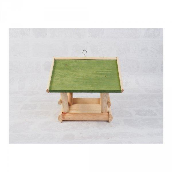 Karmnik dla ptaków (Drewno/Zielony) - sklep z wiklina - zdjęcie 2