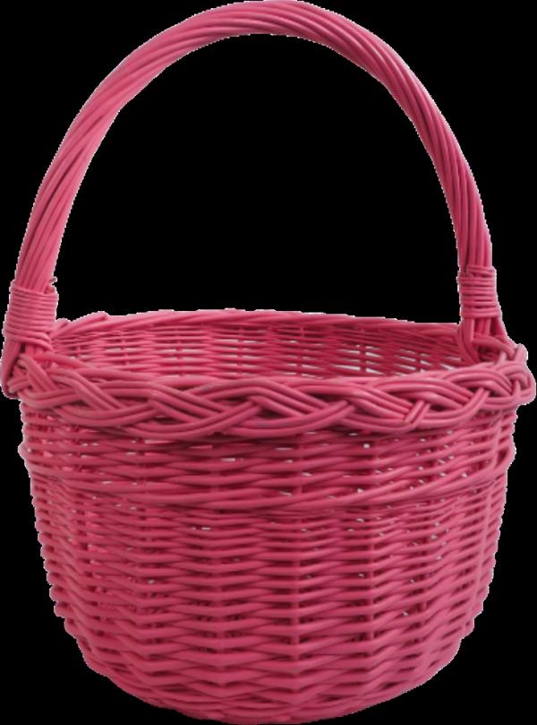 Kosz na zakupy (Boler/Różowy) - Sklep z wiklina - zdjęcie 1