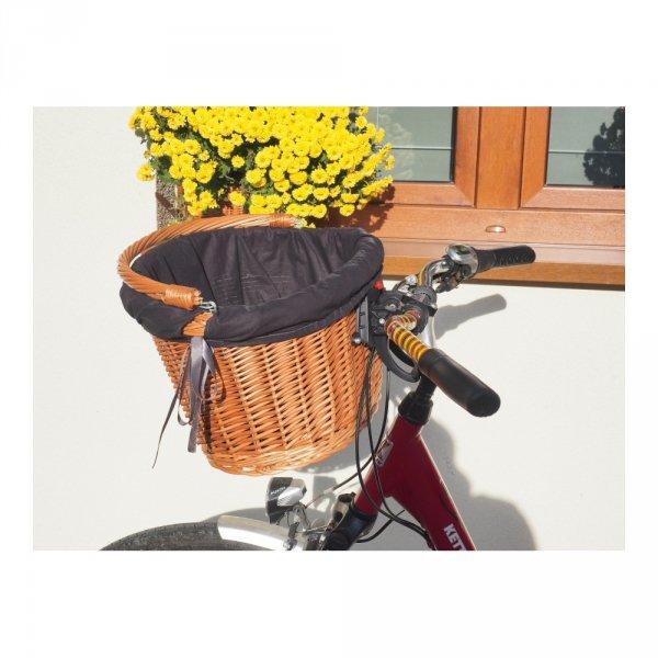 Kosz rowerowy z wkładem  (Clik/naturalny) - sklep z wiklina - zdjęcie 8
