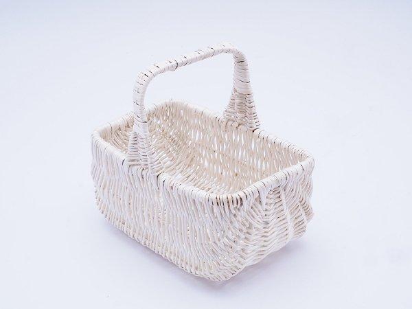 Koszyczek Wielkanocny  (Holender/Biały/24cm) - sklep z wiklina - zdjęcie