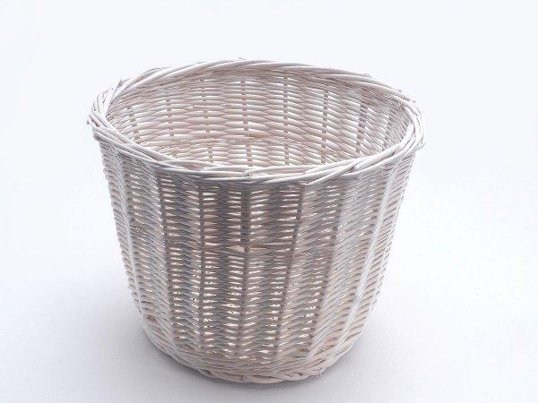 Osłonka na doniczkę (Biała/30cm) - Sklep z wiklina - zdjęcie