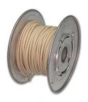 Kabel vintage biały solid 0,35mm2
