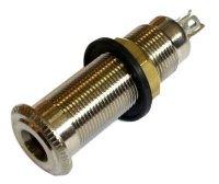 Gniazdo Jack 6,3mm stereo cylindryczne T2 niklowane