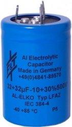 Kondensator 32uF+32uF 500V F&T
