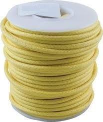 Kabel jednożyłowy vintage żółty (0,55mm2)